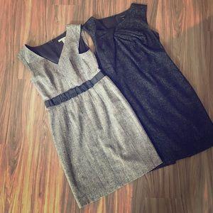 Wool shift dress' ANN TAYLOR & BANANA REPUBLIC